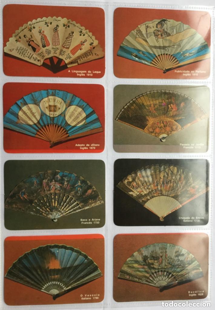Coleccionismo Calendarios: Lote 18 calendarios portugueses de bolsillo ABANICOS ANTIGUOS años 1986 - Foto 3 - 135045874