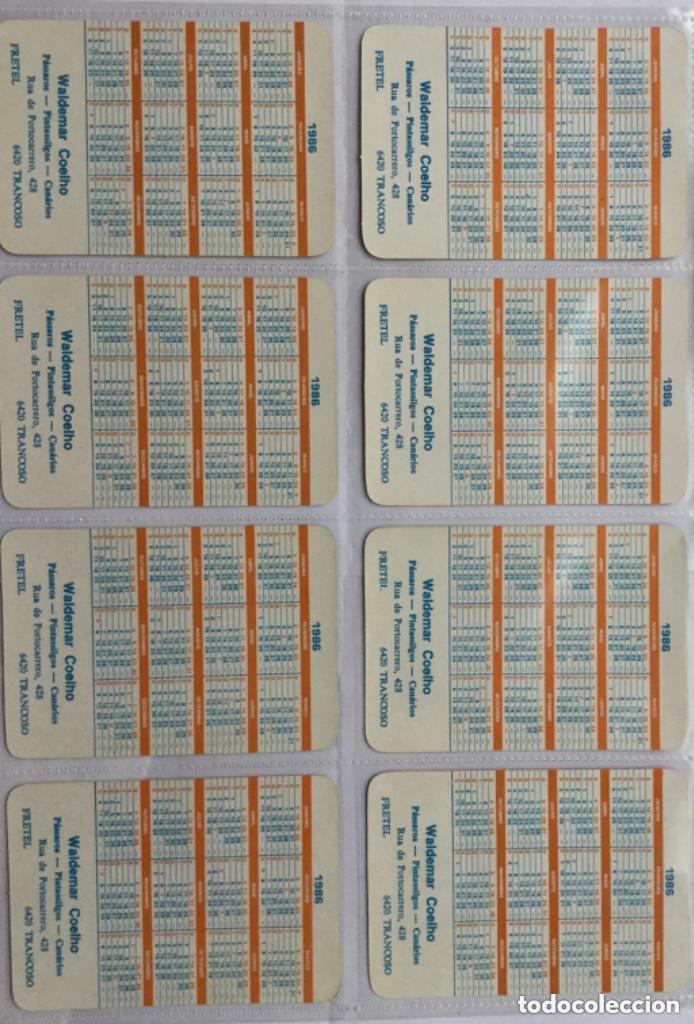 Coleccionismo Calendarios: Lote 18 calendarios portugueses de bolsillo ABANICOS ANTIGUOS años 1986 - Foto 4 - 135045874