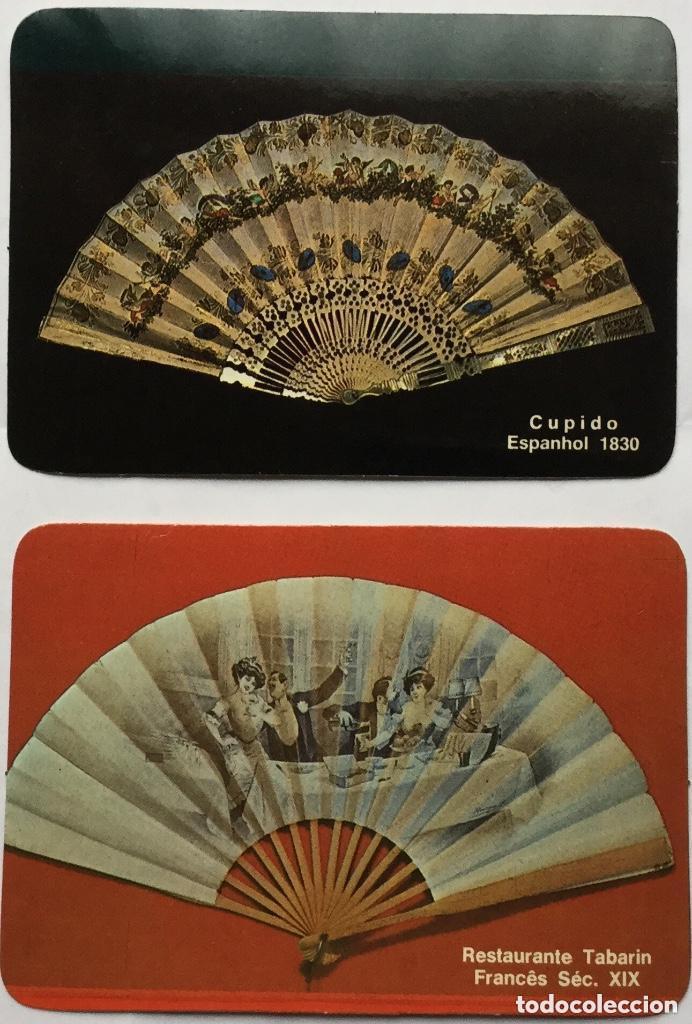 Coleccionismo Calendarios: Lote 18 calendarios portugueses de bolsillo ABANICOS ANTIGUOS años 1986 - Foto 5 - 135045874
