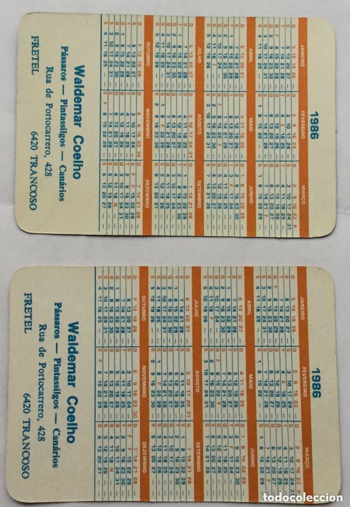 Coleccionismo Calendarios: Lote 18 calendarios portugueses de bolsillo ABANICOS ANTIGUOS años 1986 - Foto 6 - 135045874