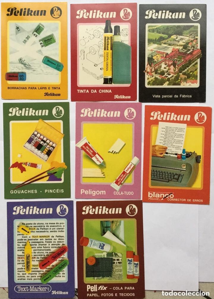LOTE 8 CALENDARIOS PORTUGUESES DE BOLSILLO PRODUCTOS PELIKAN AÑOS 1986 (Coleccionismo - Calendarios)