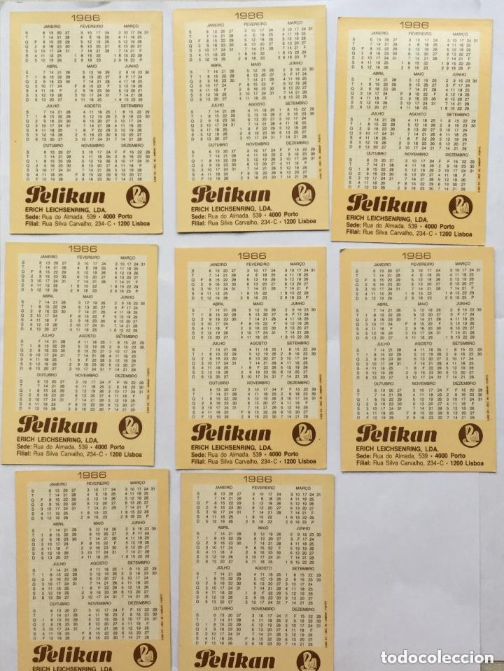 Coleccionismo Calendarios: Lote 8 calendarios portugueses de bolsillo PRODUCTOS PELIKAN años 1986 - Foto 2 - 135073742