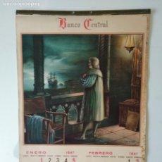 Coleccionismo Calendarios: ALMANAQUE O CALENDARIO CERVANTINO BANCO CENTRAL AÑO 1945 M. DIAGO COMPLETO. Lote 135641343