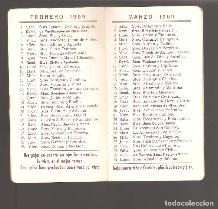 Calendario Santos.Calendario 1969 Con Todo Los Santos Optica De Anteojera