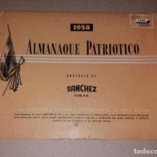 Coleccionismo Calendarios: PAPEL ANTIGUO. ALMANAQUE PATRIÓTICO, 1958, VENEZUELA. SÁNCHEZ Y CIA. Lote 135733535