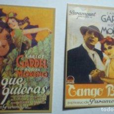Coleccionismo Calendarios: LOTE CALENDARIOS CINE CARLOS GARDEL 1947. Lote 135899938