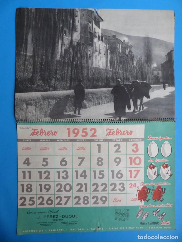Coleccionismo Calendarios: ANTIGUO CALENDARIO FORD MOTOR IBERICA, FOTOGRAFIAS DEL CENTRO EXC. DE CATALUÑA - AÑO 1952 - Foto 3 - 136461378