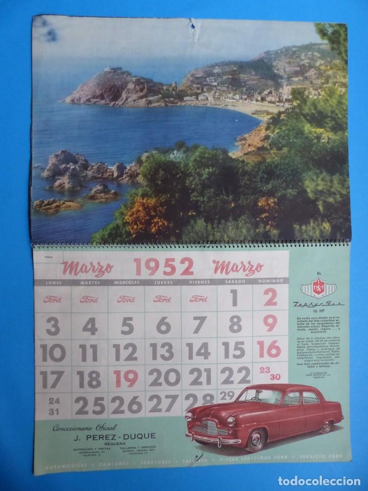 Coleccionismo Calendarios: ANTIGUO CALENDARIO FORD MOTOR IBERICA, FOTOGRAFIAS DEL CENTRO EXC. DE CATALUÑA - AÑO 1952 - Foto 4 - 136461378