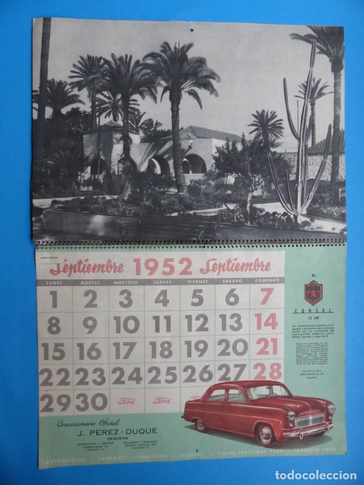 Coleccionismo Calendarios: ANTIGUO CALENDARIO FORD MOTOR IBERICA, FOTOGRAFIAS DEL CENTRO EXC. DE CATALUÑA - AÑO 1952 - Foto 7 - 136461378
