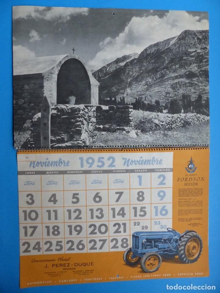 Coleccionismo Calendarios: ANTIGUO CALENDARIO FORD MOTOR IBERICA, FOTOGRAFIAS DEL CENTRO EXC. DE CATALUÑA - AÑO 1952 - Foto 8 - 136461378