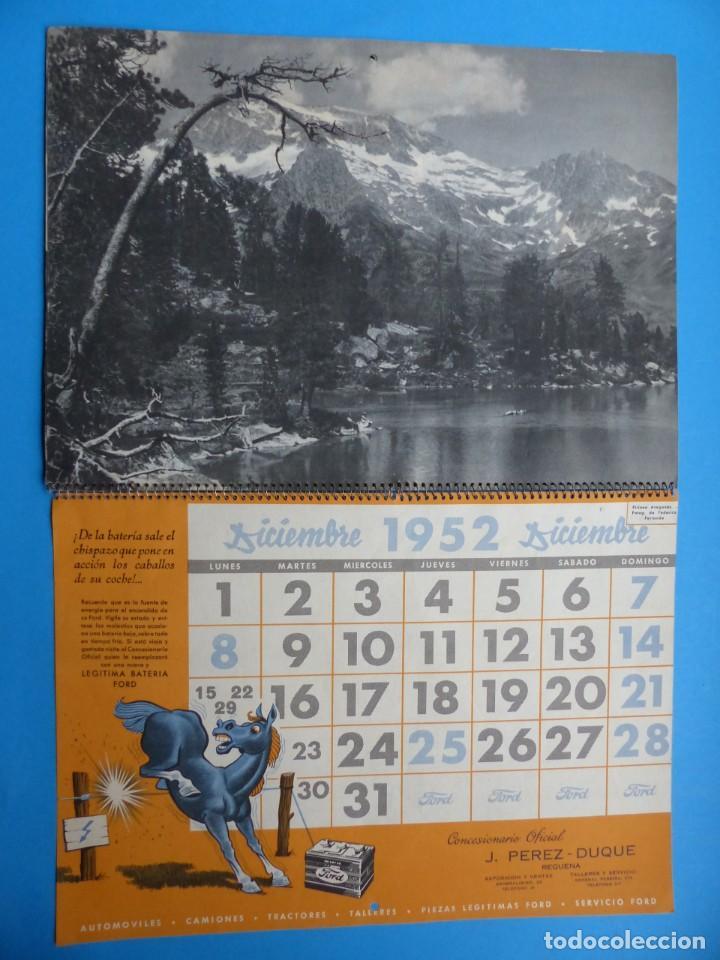 Coleccionismo Calendarios: ANTIGUO CALENDARIO FORD MOTOR IBERICA, FOTOGRAFIAS DEL CENTRO EXC. DE CATALUÑA - AÑO 1952 - Foto 9 - 136461378