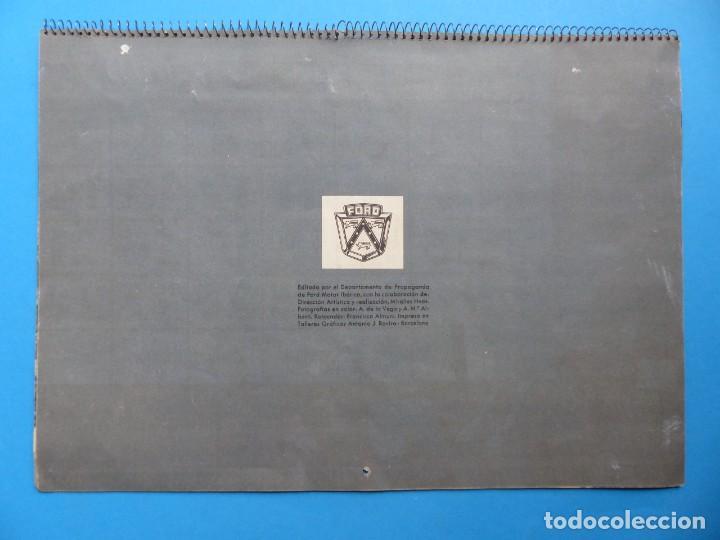 Coleccionismo Calendarios: ANTIGUO CALENDARIO FORD MOTOR IBERICA, FOTOGRAFIAS DEL CENTRO EXC. DE CATALUÑA - AÑO 1952 - Foto 10 - 136461378