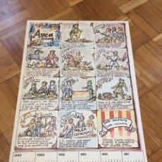 Coleccionismo Calendarios: CALENDARIO PAÍS VALENCIA. Lote 136643860
