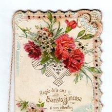 Coleccionismo Calendarios: MAGNÍFICO CALENDARIO TROQUELADO CON GUÍA DE CALLES. CHOCOLATES EVARISTO JUNCOSA, BARCELONA. 1903 AA. Lote 136793654