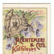 Coleccionismo Calendarios: MUY RARO CALENDARIO S XIX TIENDA GUANTES CON LISTA DE PRECIOS, P. CENTEMERI, CHICAGO. 1893 - 94 AA. Lote 137114638