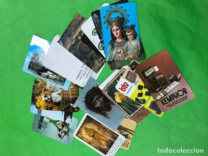 LOTE DE 18 CALENDARIOS BOLSILLO CON PUBLICIDAD - DESDE 1976 A 1998 (Coleccionismo - Calendarios)