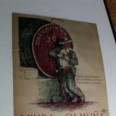 Coleccionismo Calendarios: CALENDARIO /CARTEL VALVANERA JC / VIUDA DE CAMUÑA SEVILLA. Lote 137741100