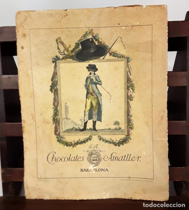 CALENDARIO, CHOCOLATES AMATLLER S. A. BARCELONA. 1929. (Coleccionismo - Calendarios)