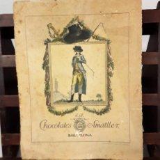 Coleccionismo Calendarios: CALENDARIO, CHOCOLATES AMATLLER S. A. BARCELONA. 1929.. Lote 138092358