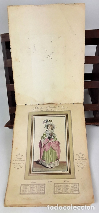 Coleccionismo Calendarios: CALENDARIO, CHOCOLATES AMATLLER S. A. BARCELONA. 1929. - Foto 2 - 138092358
