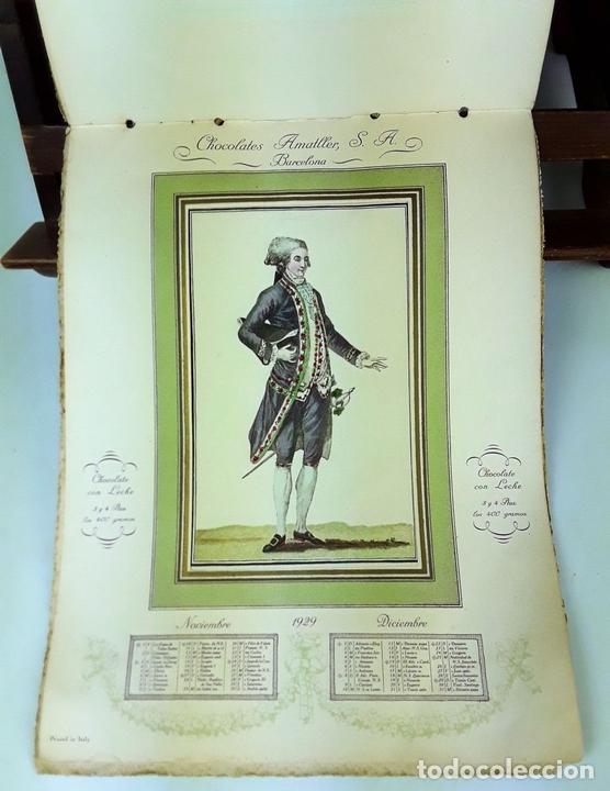 Coleccionismo Calendarios: CALENDARIO, CHOCOLATES AMATLLER S. A. BARCELONA. 1929. - Foto 4 - 138092358