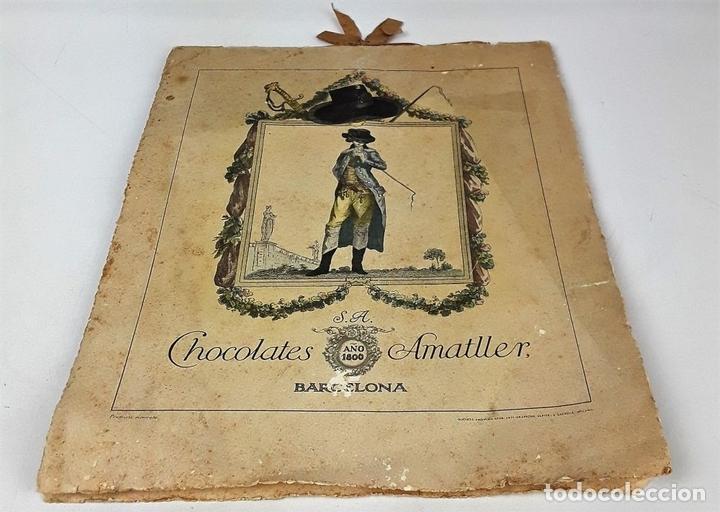 Coleccionismo Calendarios: CALENDARIO, CHOCOLATES AMATLLER S. A. BARCELONA. 1929. - Foto 6 - 138092358