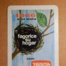 Coleccionismo Calendarios: CALENDARIO FOURNIER DE BOLSILLO - FAGOR - FAGORICE SU HOGAR - ELECTRODOMÉSTICOS - 1966. Lote 138372258