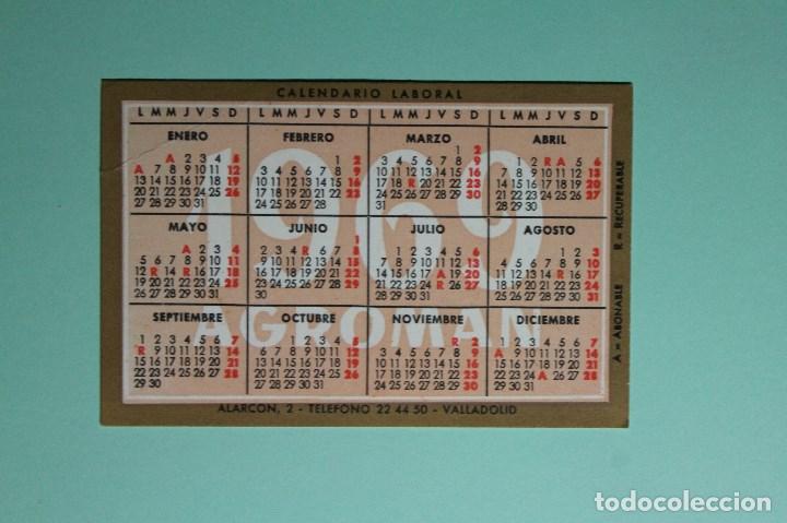 Calendario Laboral Valladolid.Calendario De Bolsillo Calendario Laboral Agroman Ano 1969 1970 Valladolid