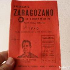 Coleccionismo Calendarios: CALENDARIO ZARAGOZANO 1976,FIRMAMENTO. Lote 138944922