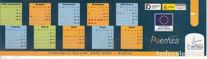 Calendario Escolar Huelva.Calendario Escolar 2003 2004 Huelva Marcapaginas Proyecto Puentes Junta De Andalucia