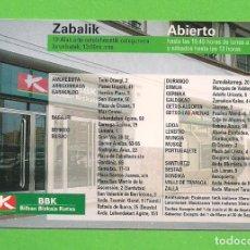 Coleccionismo Calendarios: CALENDARIO DE BOLSILLO - PUBLICITARIO - BILBAO BIZKAIA KUTXA - AÑO 1998 -. Lote 139102346