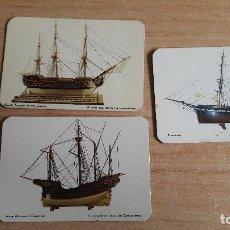 Coleccionismo Calendarios: LOTE 3 CALENDARIOS SERIADOS TEMÁTICA BARCOS - AÑOS 75 Y 76. Lote 139620482