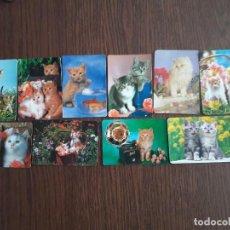 Coleccionismo Calendarios: LOTE DE 10 CALENDARIOS DE SERIE DE GATOS AÑOS 2000. Lote 139748758