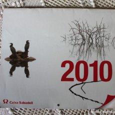 Coleccionismo Calendarios: CALENDARIO DE CAIXA SABADELL DE FOTOGRAFÍAS NATURALES (2010). Lote 140110126