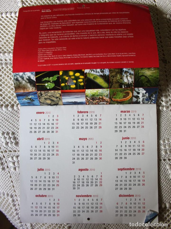 Coleccionismo Calendarios: Calendario de Caixa Sabadell de fotografías naturales (2010) - Foto 2 - 140110126