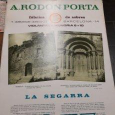 Coleccionismo Calendarios: LA SEGARRA - CALENDARI PARET ANY 1975. Lote 140288204