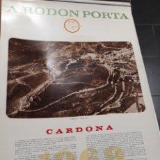 Coleccionismo Calendarios: CARDONA. CALENDARI DE PARET ANY 1969. Lote 140292789