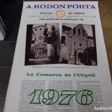 Coleccionismo Calendarios: LA COMARCA DE L`URGELL-TARREGA-BELLPUIG-AGRAMUNT-LA GUARDIA D`URGELL-TORNABOUS. Lote 140299802