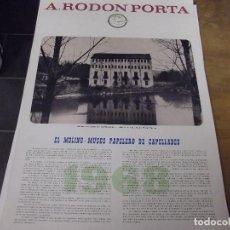 Coleccionismo Calendarios: EL MOLINO - MUSEO PAPELERO DE CAPELLADES. Lote 140300426