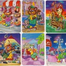Coleccionismo Calendarios: -59164 6 CALENDARIOS DIBUJOS ANIMALES, AÑO 1995, CON PUBLICIDAD, SERIE L. Lote 140512518