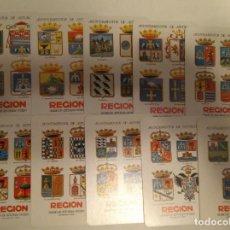 Coleccionismo Calendarios: FOURNIER 1968-78. COLECCIÓN COMPLETA DE 20 CALENDARIOS DEL DIARIO REGIÓN. EXCELENTE ESTADO.. Lote 140902494