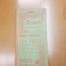 Coleccionismo Calendarios: DIETARIO 1906. Lote 141119234