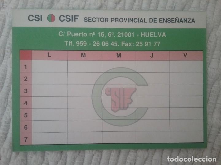 Calendario Escolar Huelva.Calendario Escolar Csif Huelva 1996 1997
