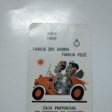 Coleccionismo Calendarios: CALENDARIO DE BOLSILLO FOURNIER CAJA PROVINCIAL DE AHORROS DE LOGROÑO. 1969. TDKP13. Lote 141896414