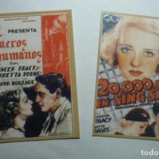 Coleccionismo Calendarios: LOTE CALENDARIOS CINE PELICULAS SPENCER TRACY 1947 . Lote 142037426
