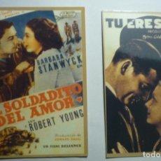 Coleccionismo Calendarios: LOTE CALENDARIOS CINE PELICULAS AMERICANAS 1947. Lote 142037786