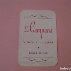 Collectionnisme Calendriers: CALENDARIO DE LA CAMPANA VINOS Y LICORES. MALAGA. 1968.. Lote 142357222