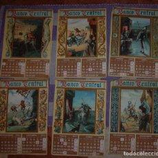 Coleccionismo Calendarios: CALENDARIO ALMANAQUE DE PARED BANCO CENTRAL ESCENAS DEL QUIJOTE AÑO 1945 // LIT. S. DURA . Lote 142599446
