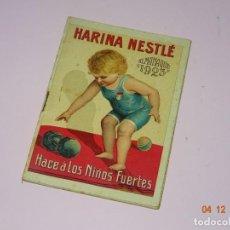 Coleccionismo Calendarios: ANTIGUO CALENDARIO IMPRESO EN LITOGRAFIA PUBLICIDAD DE HARINA NESTLE DEL AÑO 1923 - 20 PÁGINAS. Lote 142618518