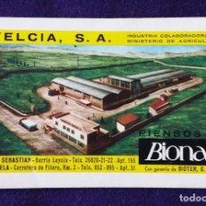Coleccionismo Calendarios: CALENDARIO FOURNIER. BIONA. 1965. Lote 143055562